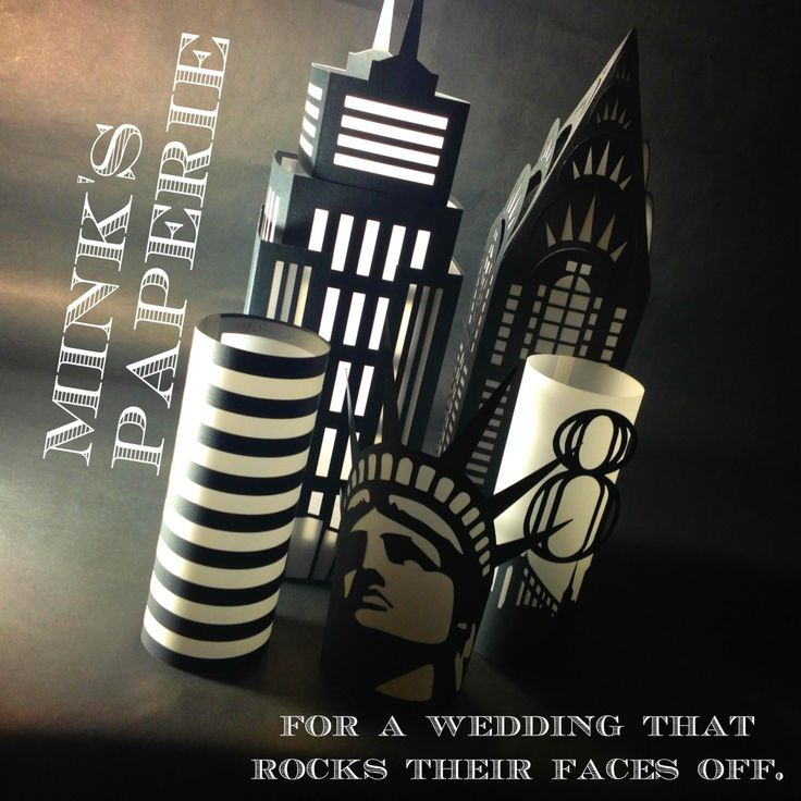 Nyc themed wedding decorations coming to mink 39 s paperie in for New york city decor