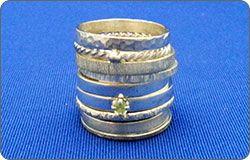 Silversmithing - Stacked Ring