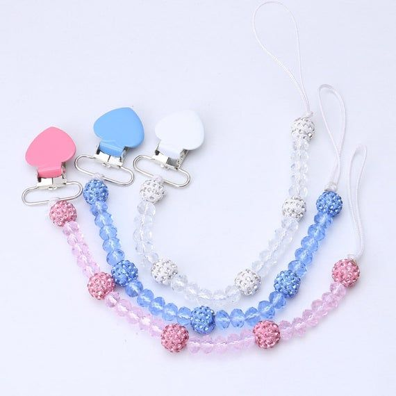 Nipple Strap Infant Colorful Dummy Clips Soother Baby Teething Pacifier Chain