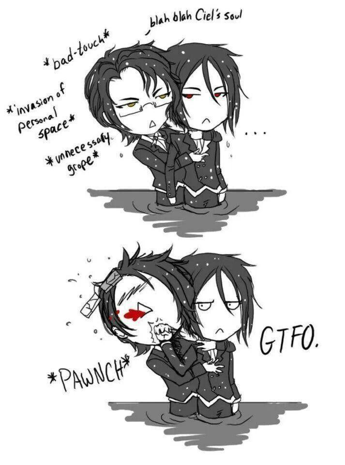 Black Butler ~~ Cute fanart :: Claude VS Sebastian