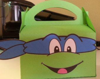 Ninja Turtles favor, treat, goodie box-set of 12