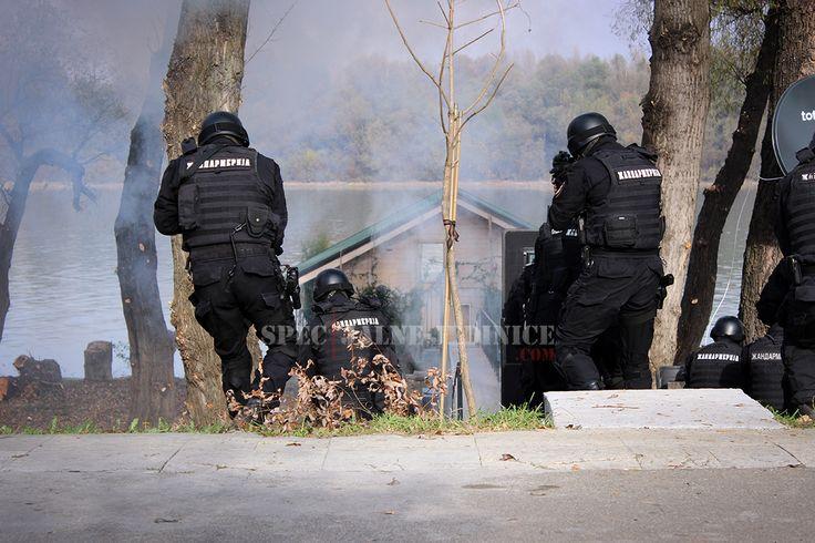 Belgrade, #Serbia - Operators of the Serbian Gendarmerie Belgrade Detachment Specialist Unit during Shield 2015 tactical exercise. #serbianspecialforces #specijalnejedinice #gendarmerie #zandarmerija #coltm4 #tactical #uniform #helmet #reddot #police #policeforce #swat