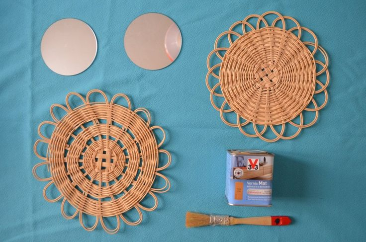 DIY: miroir en rotin  ednaetlena.com
