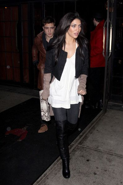 Jessica Szohr Photo - Jessica Szohr and Ed Westwick Go to a Party