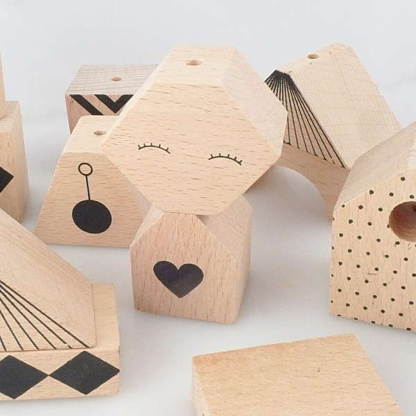 My Sweet Muffin - Puzzle Me Wooden Block Mobile