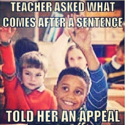 If I ever become a teacher and get this comeback... You get an A. Only the first kid it's just not fair to hand out As!