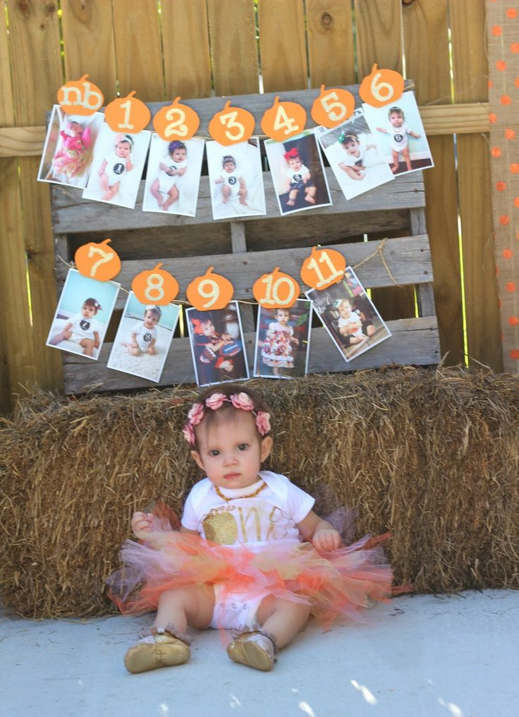 As it came closer to planning Charlotte's 1st birthday party, it was no question that it would be Fall themed.  A pumpkin patch was per...