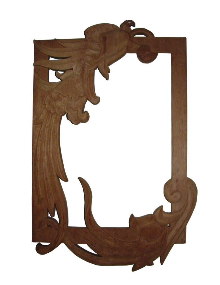 Wooden hand carved mirror frame my furniture ecodesign for Wooden mirror