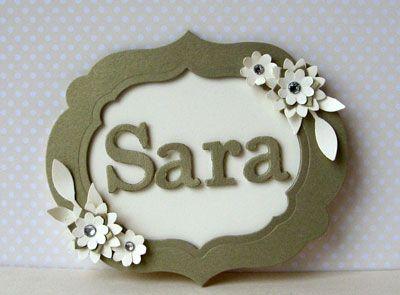 Name badge and team swaps | Sara's crafting and stamping studio