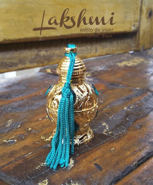 Óleo essencial de sândalo - embalagem luxo turquesa