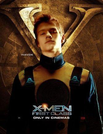 Лукас Тилл в роли Алекса Саммерса / Хавока, постер к фильму «Люди Икс: Первый Класс».