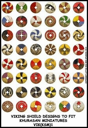 Escudos vikingos.