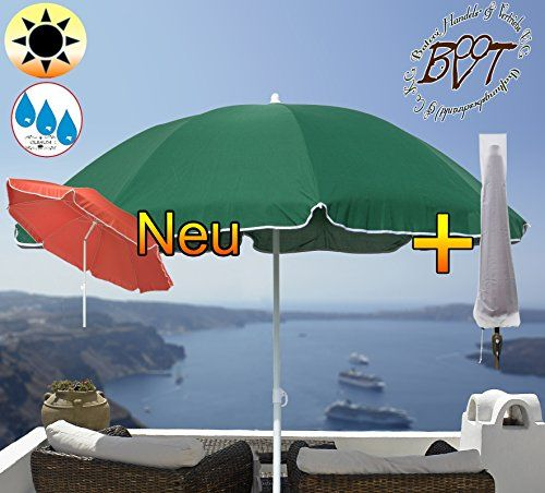 XXL Large U2013 180 Cm/6ft Premium Green Parasol Umbrella With Case With  Valance, Set Of 8/8 Heavy Duty Square Solid Garden Beach Umbrella, Moss  Green, Beach, ...