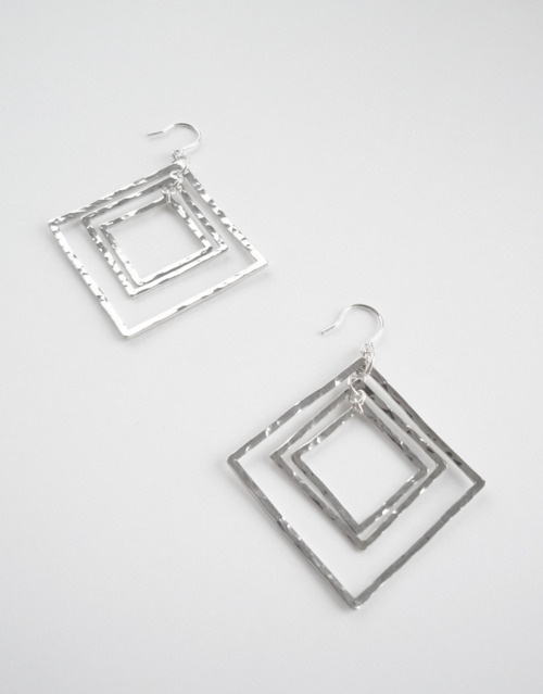 Square Hammered Earrings