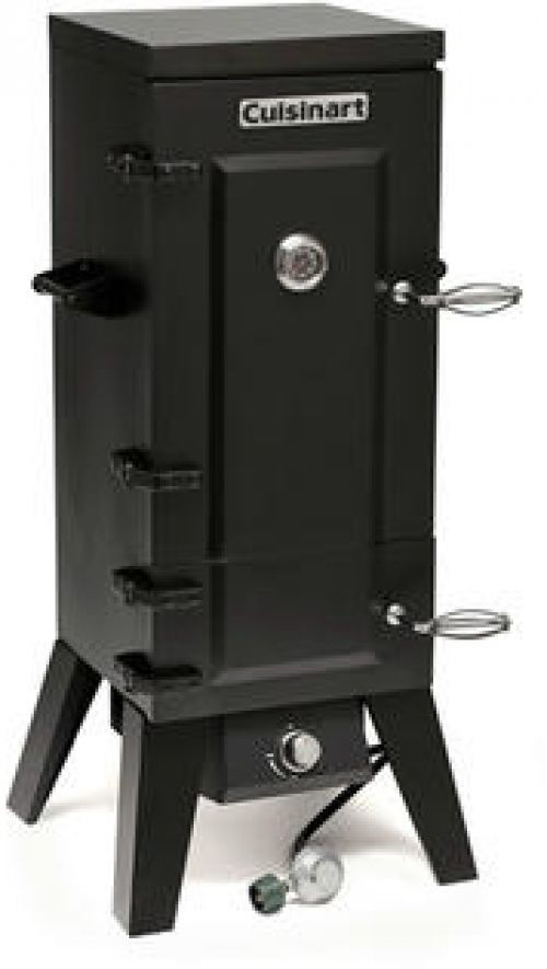 Cuisinart COS-244 Vertical Propane Gas Smoker with stainless steel racks #Cuisinart