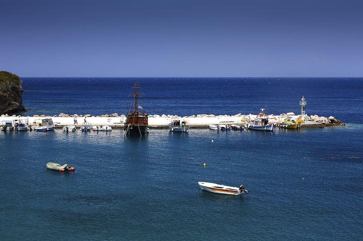 Вид на пристань, Бали, о.Крит, Греция