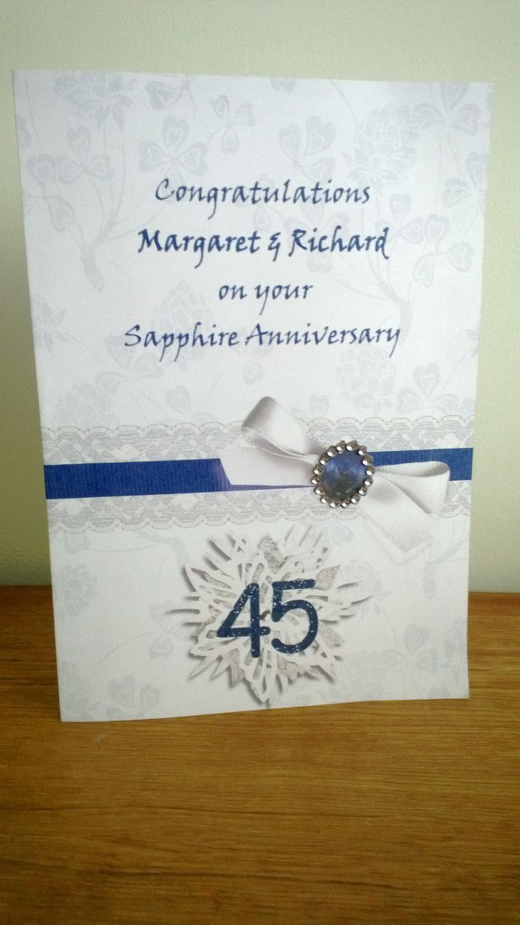 sapphire wedding anniversary invitations%0A It is not possible to buy a card to celebrate a sapphire wedding anniversary  in the