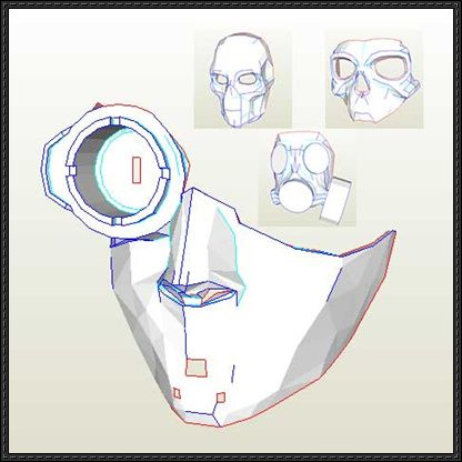 Steampunk Sci Fi Mask Paper Models Free Templates Download Masks