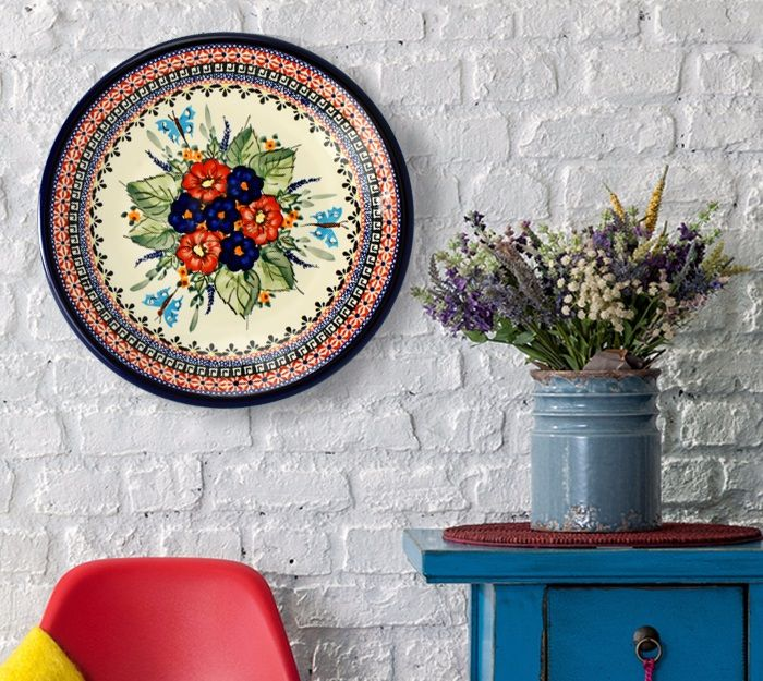 Hand painted ceramic wall plates.