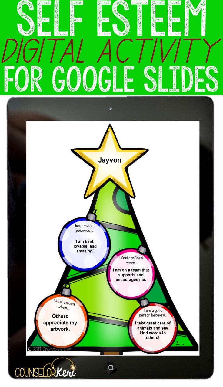 digital christmas self esteem activity for google slides! perfect for elementary school counseling individual counseling or small group counseling. -counselor keri