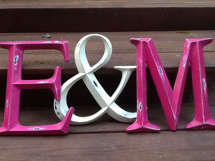 Large Initials and Ampersand Wall Letters Shabby Chic Distressed Capital Initial Rustic Wall Letter by ShabbyGoesChic on Etsy https://www.etsy.com/listing/158020114/large-initials-and-ampersand-wall