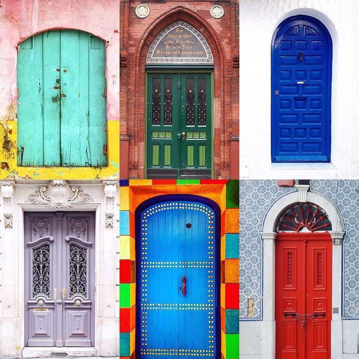 Doors  by:  R1C1: @marypoppings R1C2: @myshiningarmour R2C1: @tuerentante R2C2: @turistadimestiere R3C1: @annaregina.enyedi R3C2: @_let.it.b_  Congratulations!  Tag #windowsanddoorsoftheworld to be featured!