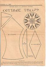 Cottage Tulips Quilt Patchwork Original Newspaper Kansas City Star Block Pattern