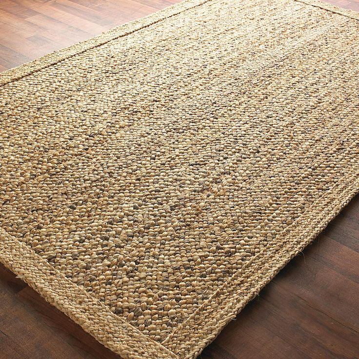 Jute Rug Dust: Chunky Boucle Braided Jute Rug Available In 2 Colors: Gray