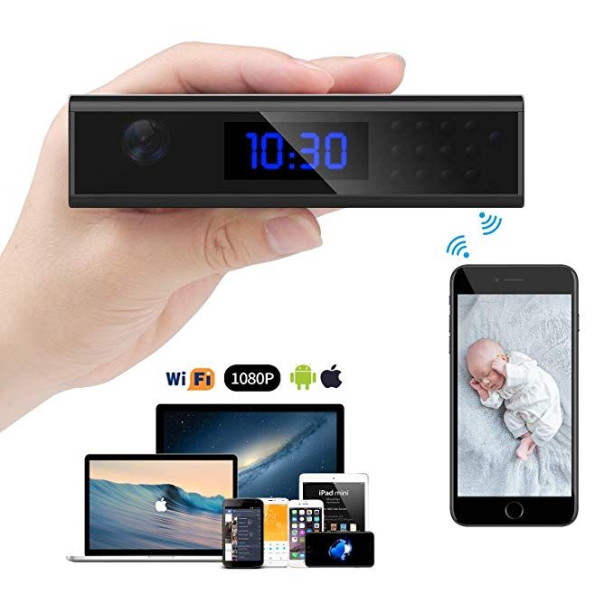 Wireless Hidden Camera, Relohas PRO Spy Camera WiFi HD 1080P