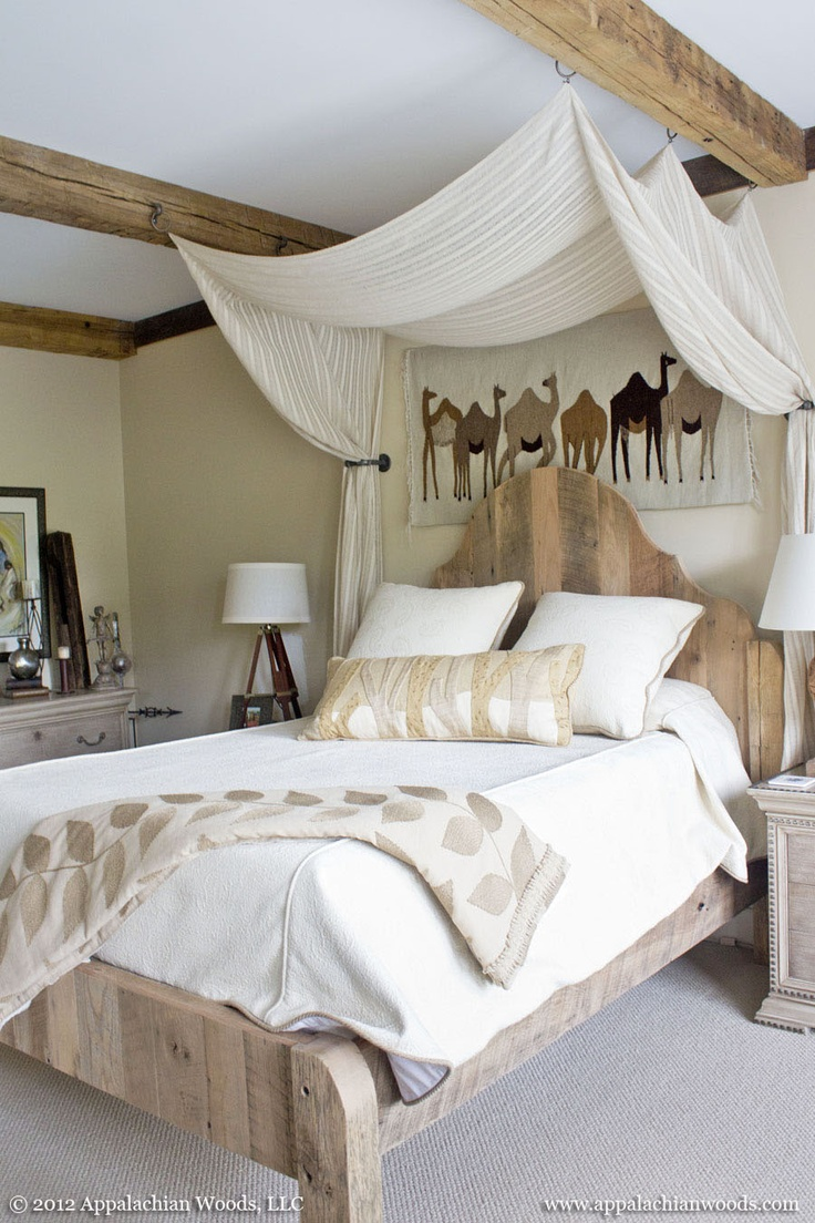 Best 25 hand hewn beams ideas on pinterest rustic for Canopy over bed