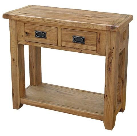 Rochester Rustic Oak Console / Hall Table 810H 910W 305D $569