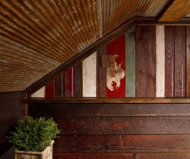 17 best images about corrugated metal on pinterest barn for Metal wainscoting ideas