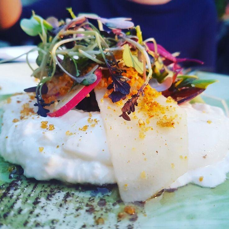 Burrata con remolacha en Luzi Bombon @grupotragaluz #cenandoconangela sigue mi instagram @angeliya_id