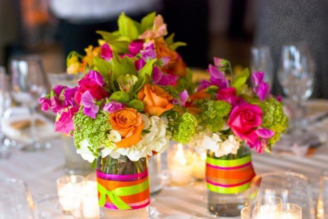 Asztalra is gyönyörű csokrok