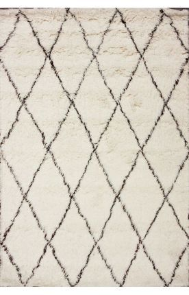 Living room: Moroccan style shag rug, goes with ANYTHING and everything! | Rugs USA has good prices + free shipping