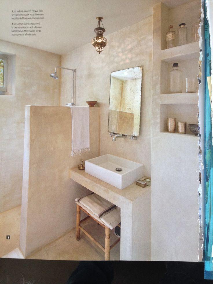 Goed idee voor een kleine badkamer - ruimtelijk!