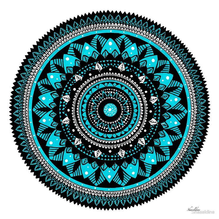 Winter hand drawn Mandala by Stacey Haseldine
