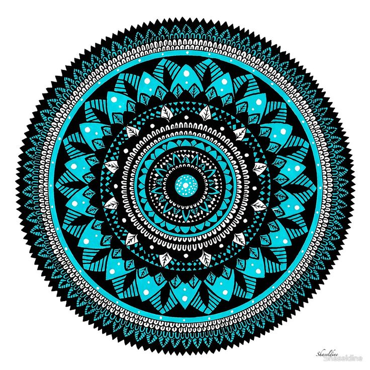 Winter hand drawn Mandala by Stacey Haseldine