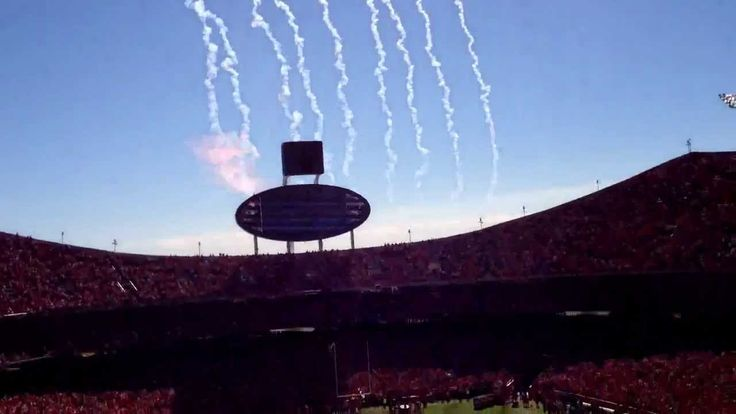 Coolest flyover ever!!! Kansas City Chiefs Arrowhead Stadium, 49 plane flyover during National Anthem.