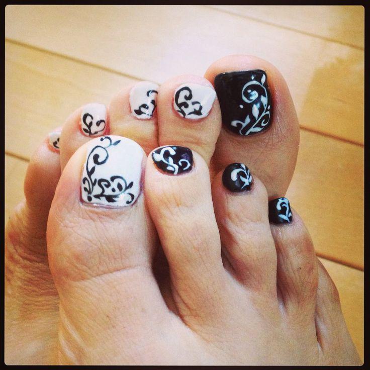 Toe Nail Art: abstract design by adamnails.deviantart.com on @deviantART