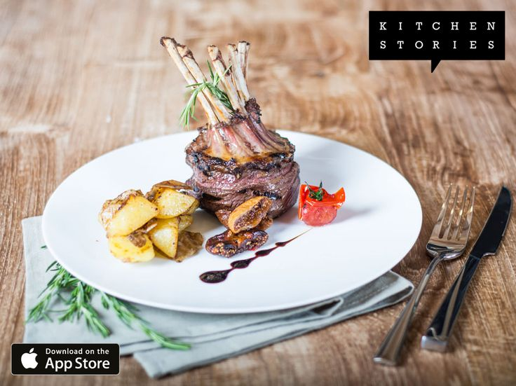 """I am cooking """"Rack of lamb stuffed with dried figs"""" with @1KitchenStories - Download http://itunes.apple.com/app/id771068291"""