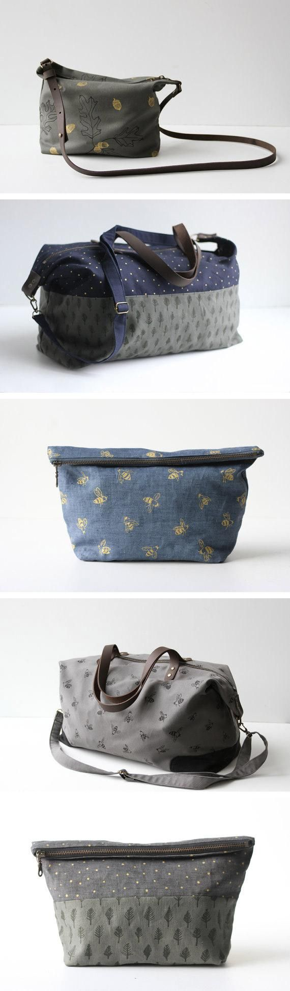 Jennarosehandmade has a way with nature-inspired, nearly-gender-neutral travel bags and pouches. #etsyfinds
