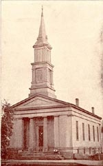 First Presbyterian Church -- the church the Lincoln family attended.