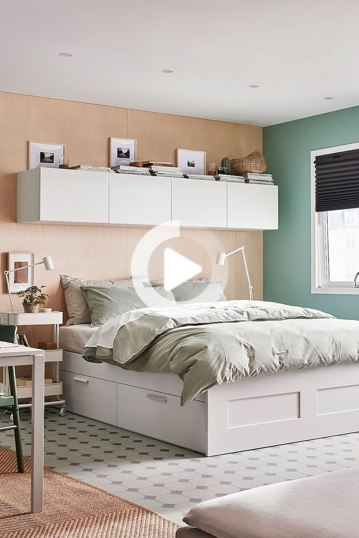 BRIMNES bed frame with drawers white IKEA Germany in