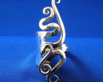 Fork Cuff Bracelet Made from an Antique Silver by Forkwhisperer