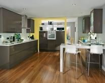 Gloss Graphite Integrated Handle Ktchen Range   Kitchen Families   Howdens Joinery