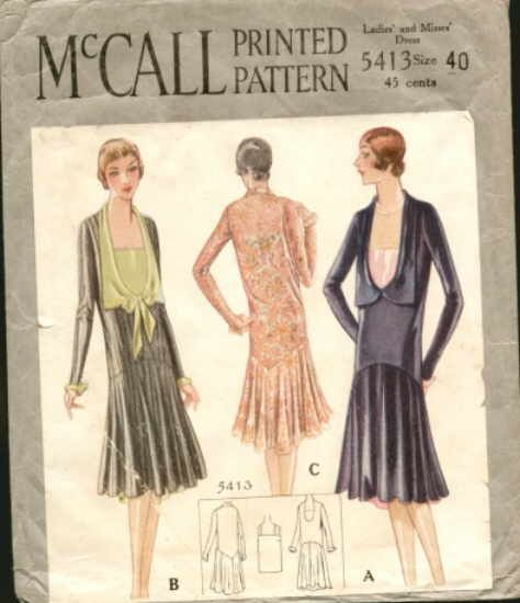 McCall 5413; ca. 1920s; Ladies' & Misses' Dress. Design by Agnès Drecoll. [insert your photos of this pattern made up]