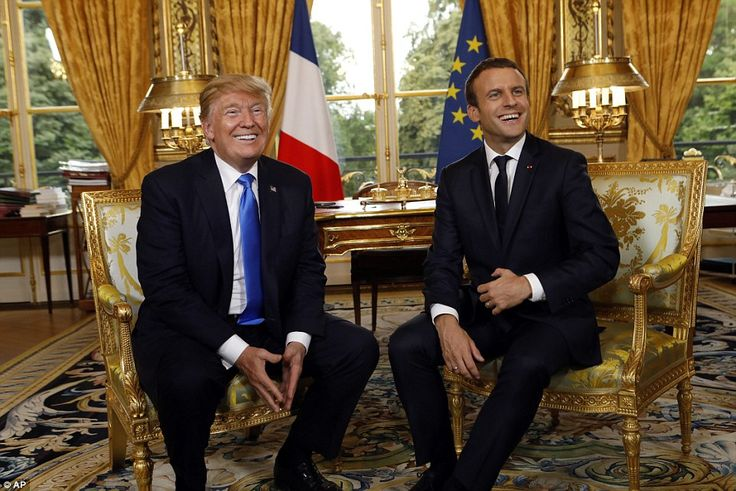 NO HARD FEELINGS: By early evening the two men acted like old pals, laughing and smiling their way through a bilateral meeting at Elysee Palace