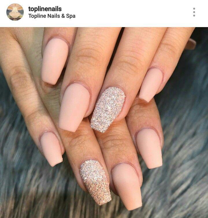 Acrylic nails. Ballerina Nails. Matte nails.