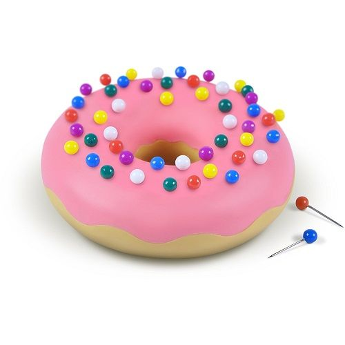 Pink Donut Push Pin Holder. Cute stationery. School supplies. Office supplies. Desk decor. (Gift ideas for sisters)